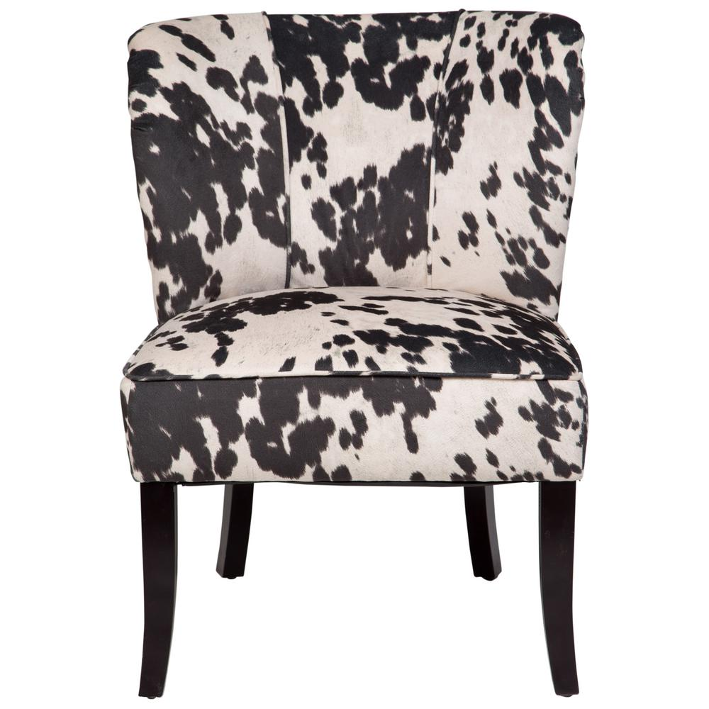 Black And White Accent Chair Mimi Black And White Cow Print Tulip Back Accent Chair