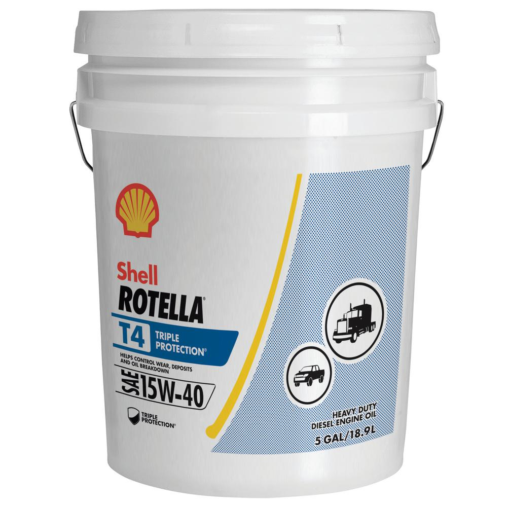 15w40 Olie Formula Shell 5 Gal. Rotella T4 15w40-550045128 - The Home