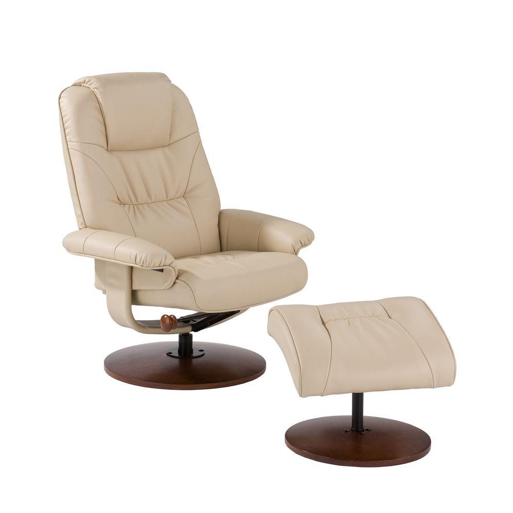 Leather Recliner Chair With Ottoman Taupe Leather Reclining Chair With Ottoman