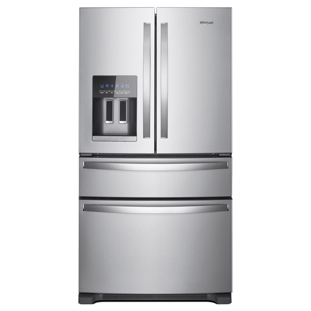 Kitchen Appliance Packages Home Depot Whirlpool 25 Cu Ft French Door Refrigerator In Fingerprint Resistant Stainless Steel