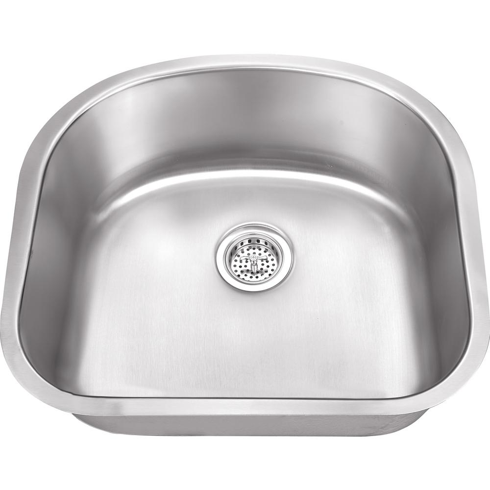 Ipt Sink Company Undermount 23 In 18 Gauge Stainless
