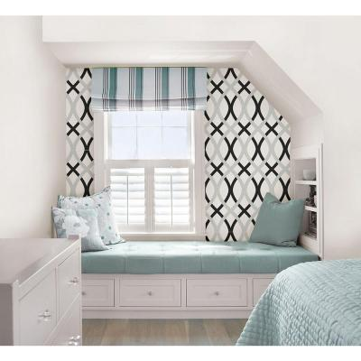 NuWallpaper 30.75 sq. ft. Black and Silver Lattice Peel and Stick Wallpaper-NU1658 - The Home Depot