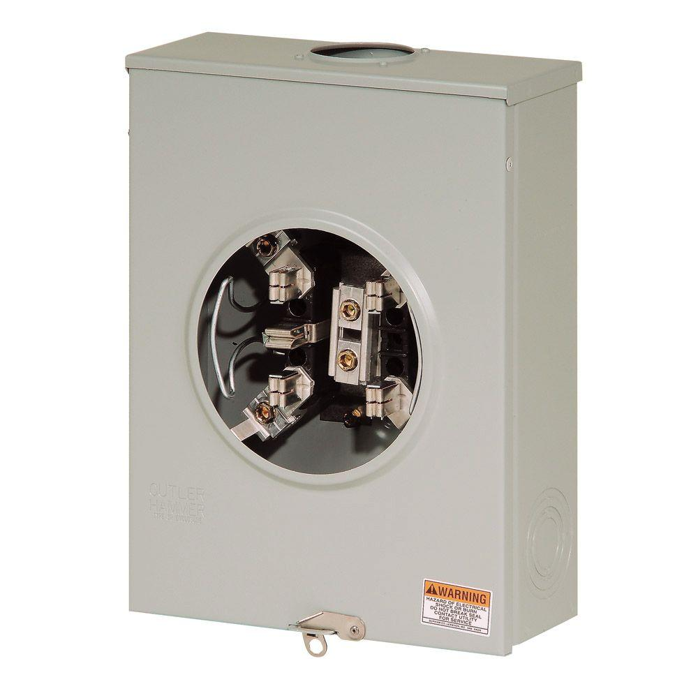 5 5 In Meters Eaton 200 Amp 5 Terminal Overhead Or Underground Meter Socket With Lever Bypass