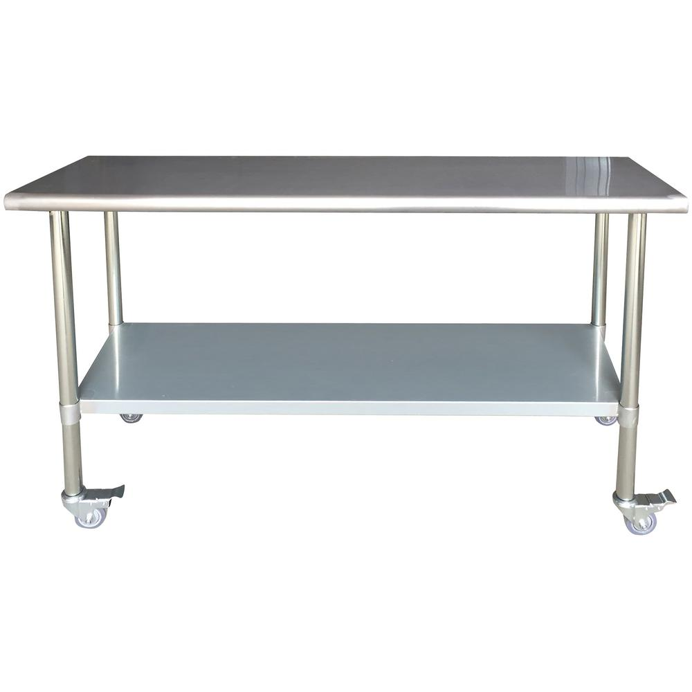 Metal Table Sportsman Stainless Steel Kitchen Utility Table With Locking