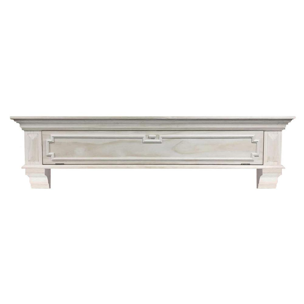 Pearl Mantels Thomas 5 Ft Unfinished Distressed Cap Shelf