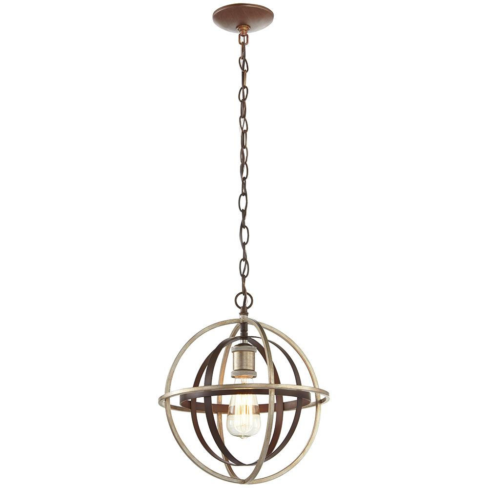 Pendant Lighting Home Decorators Collection 1 Light Bronze And Champagne Pewter Orb Mini Pendant