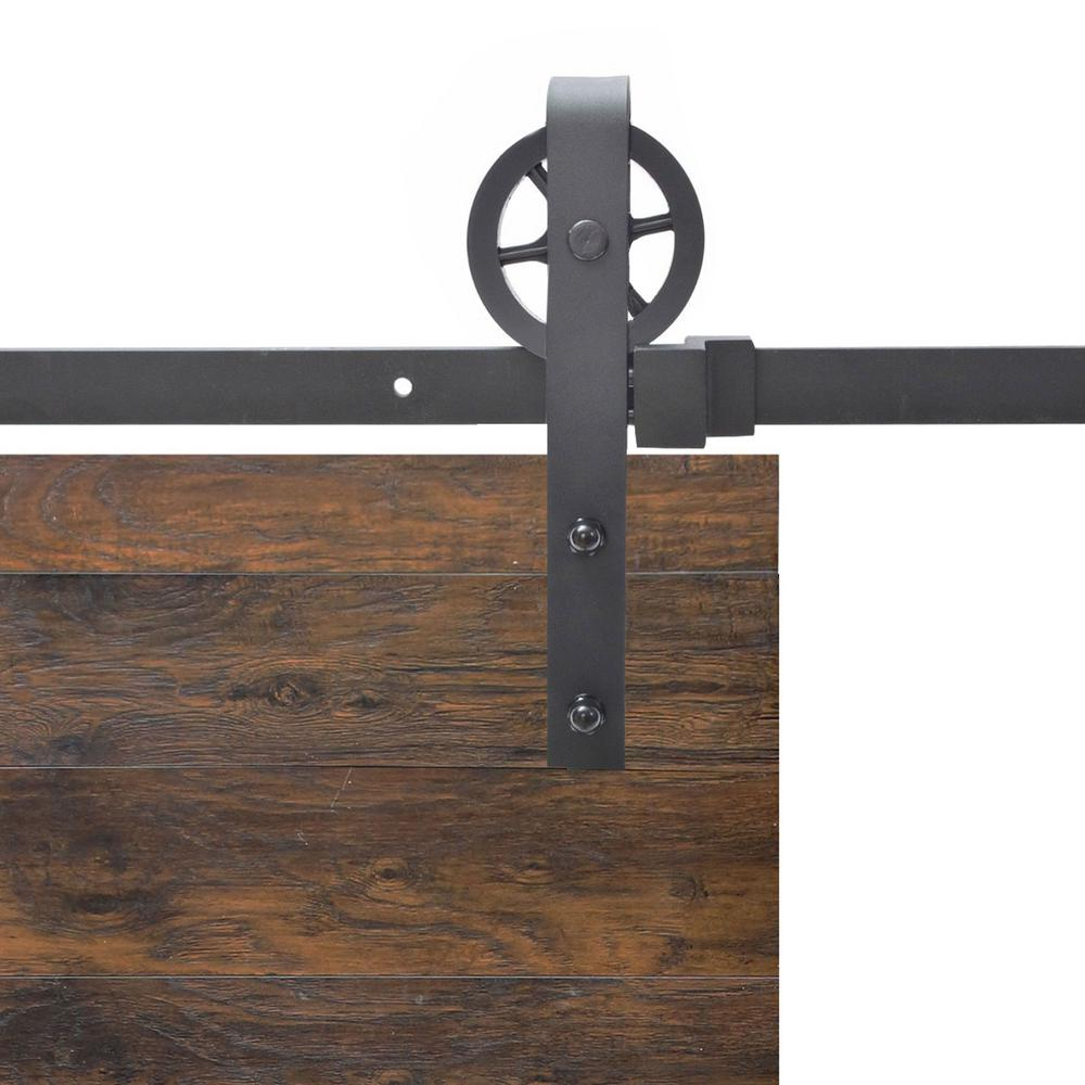Barn Door Wheels Calhome Vintage Strap Industrial Wheel Steel Sliding Barn Wood Door Hardware