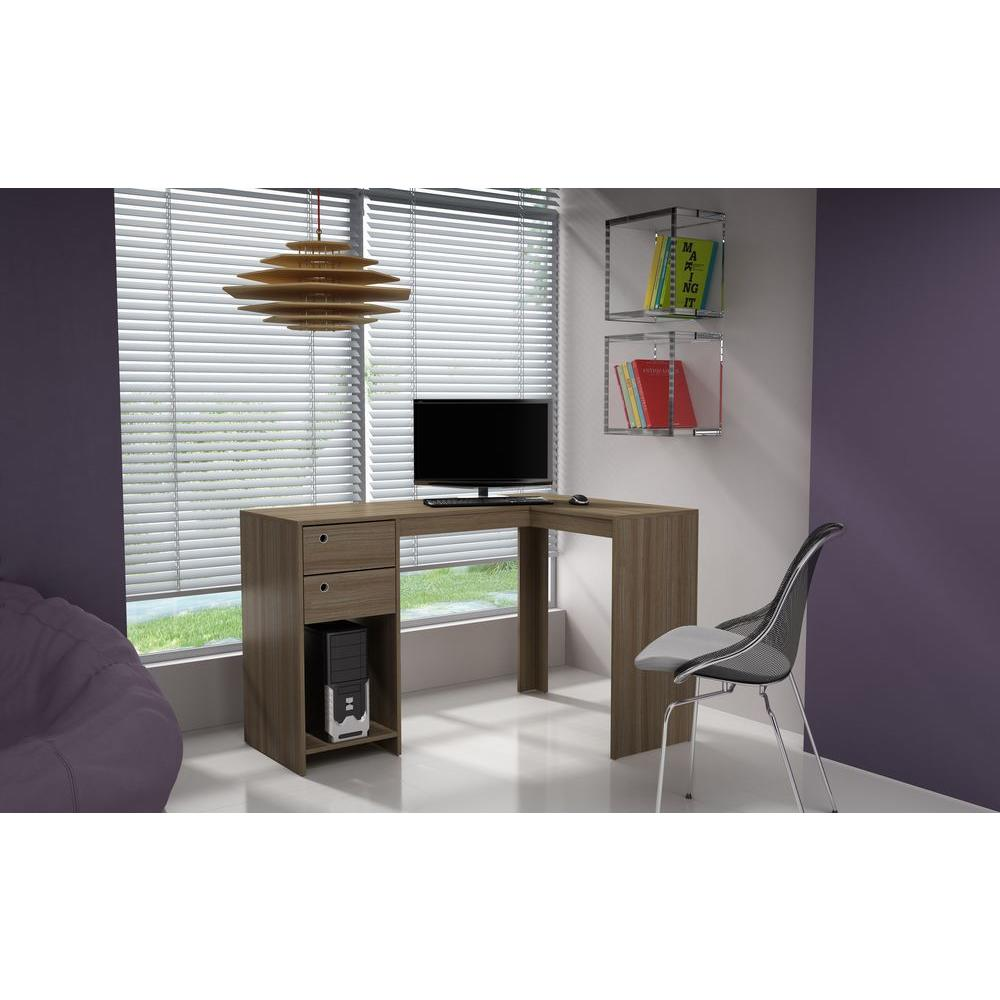 Classic Table Office Manhattan Comfort Palermo Oak Desk