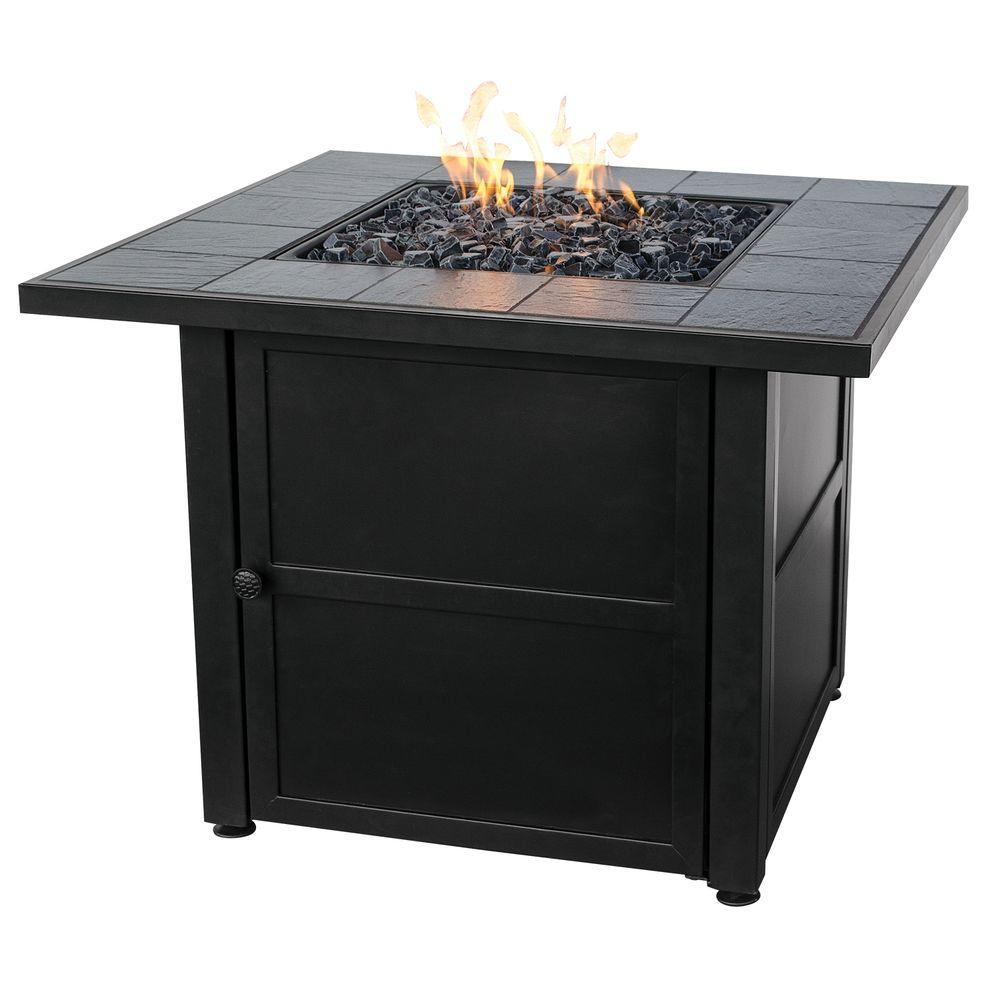 Home Depot Fire Pit Uniflame Slate Tile Propane Gas Fire Pit