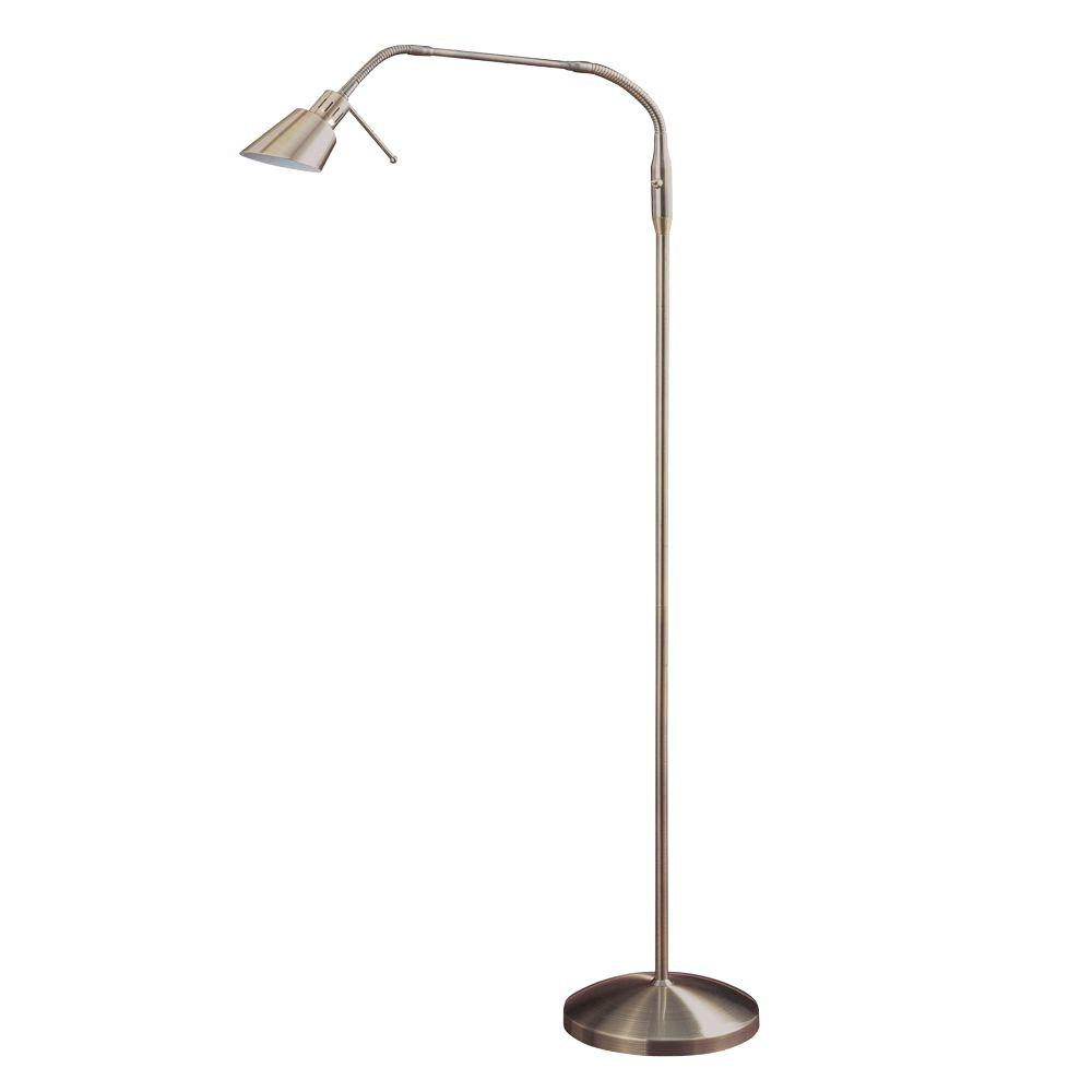 Halogen Table Lamp Designers Choice Collection 53 In Antique Brass Halogen Floor Lamp