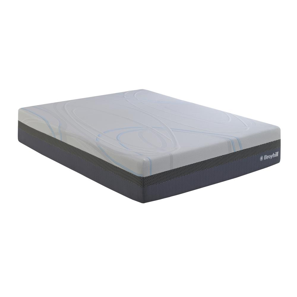 Latex Foam Mattress Broyhill 02 12 In Twin Medium Plush Liquid Gel Latex Foam