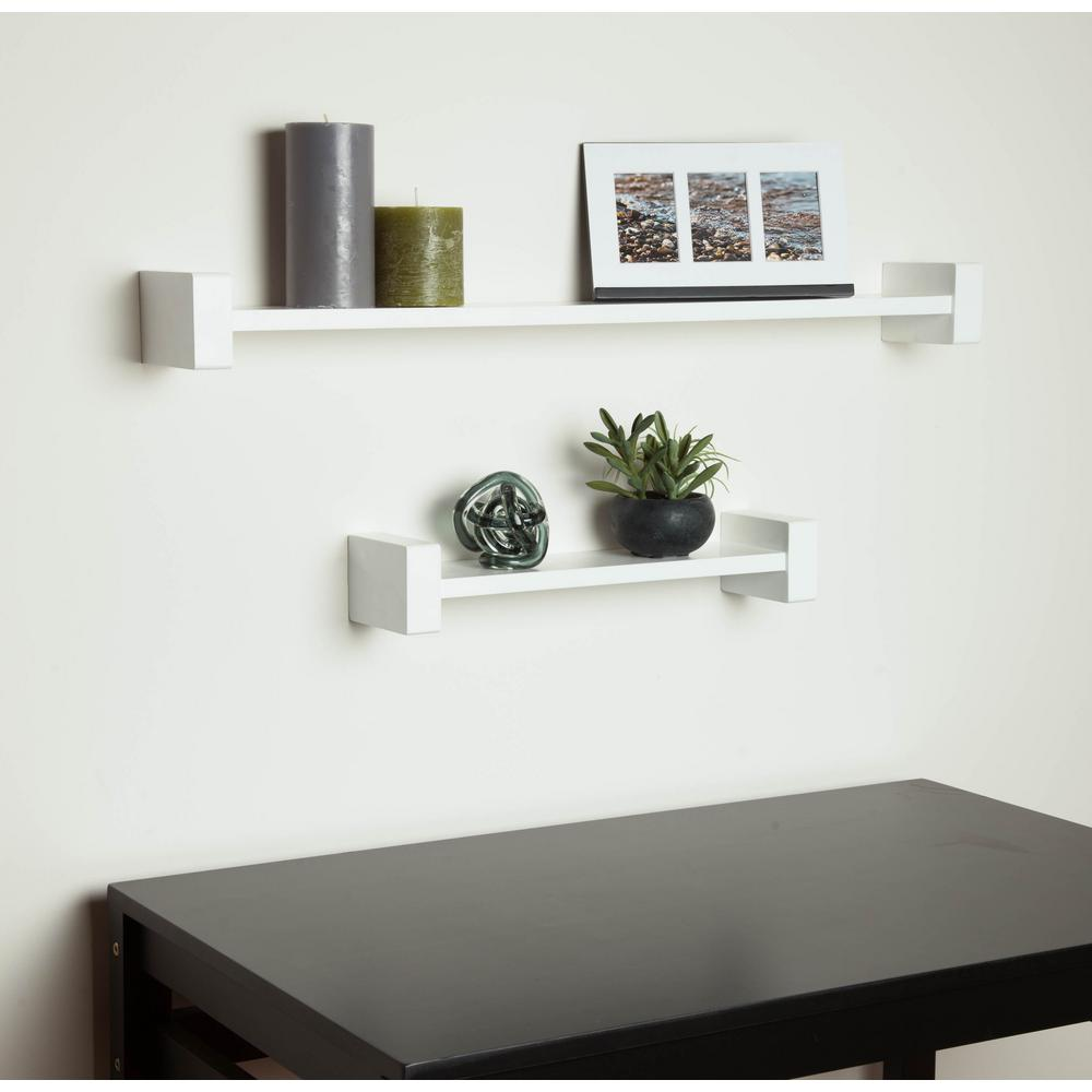 Wall Shelf Design Honey Can Do 15 75 In X 3 94 In H Shape White Wall Shelf Decorative Shelf