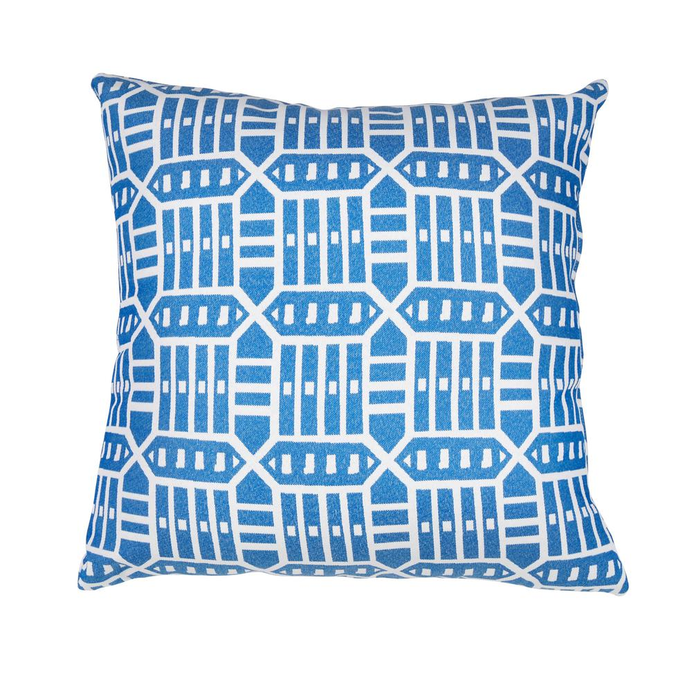 Lounge Throw Astella Roland Blue Square Outdoor Accent Lounge Throw Pillow