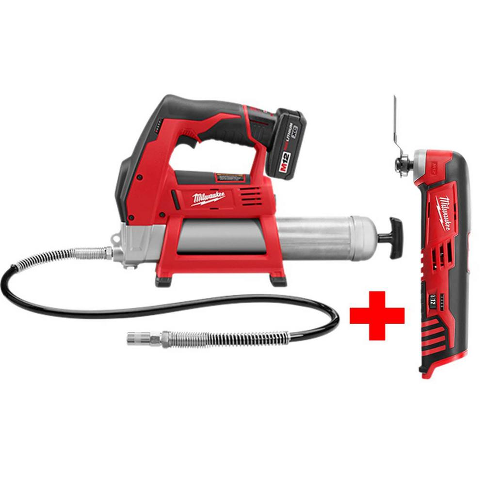 Electric Grease Gun Milwaukee M12 12 Volt Lithium Ion Cordless Grease Gun Kit With Free M12 Multi Tool