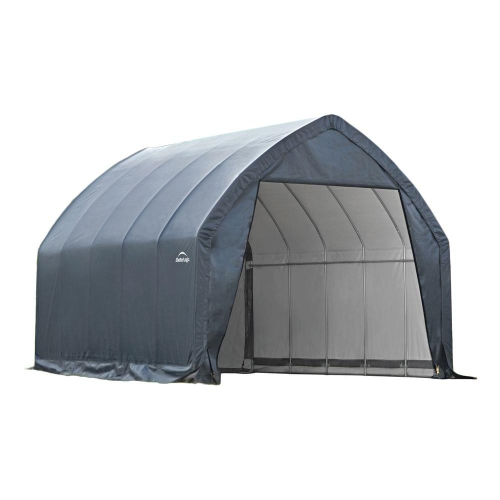 Portable Carport Costco Garage In A Box 13 Ft X 20 Ft X 12 Ft Alpine Style Garage