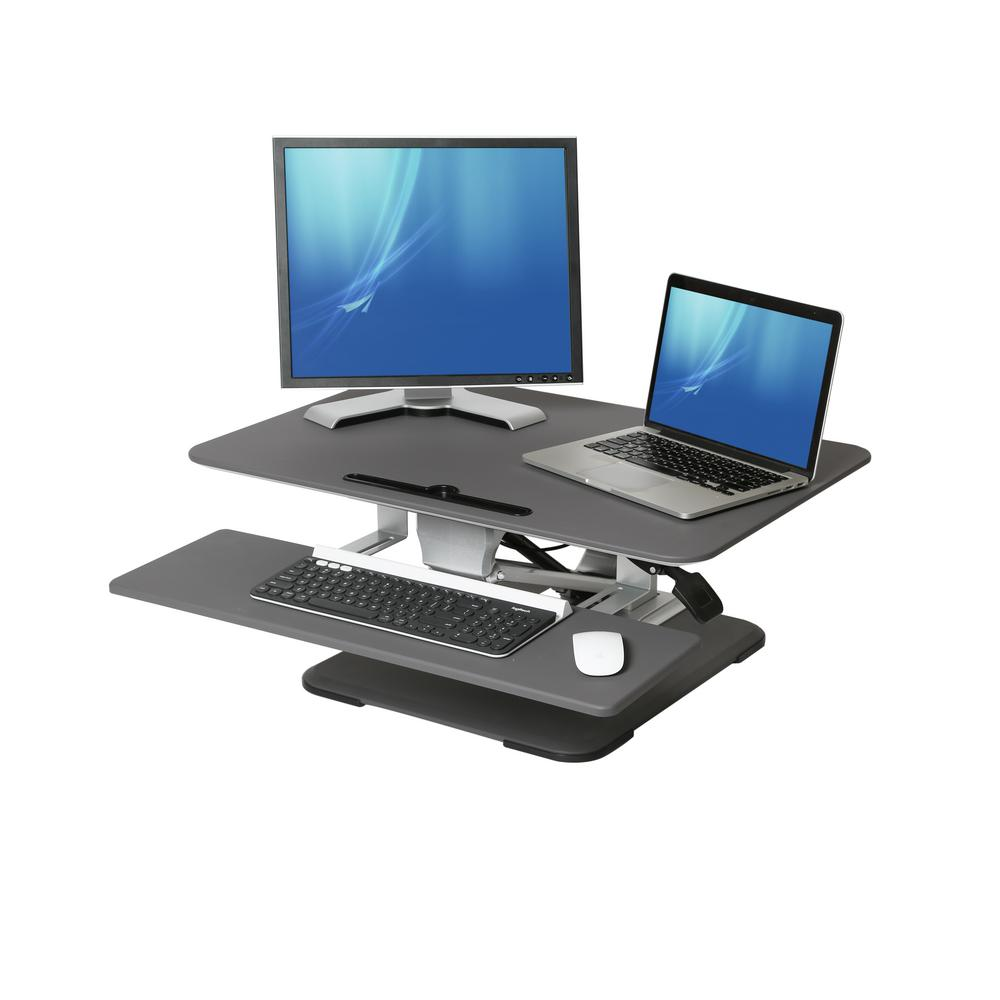 Workstation Furniture Seville Classics Airlift Gray 30