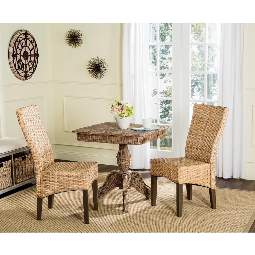 Rattan Chairs Safavieh Ozias Rattan Chair In Natural 2 Pack