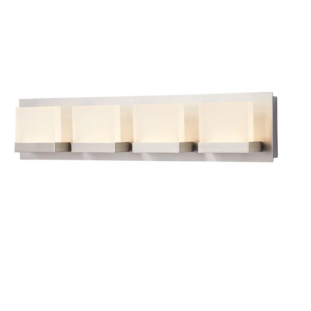 Alberson collection 4 light brushed nickel led bath bar light