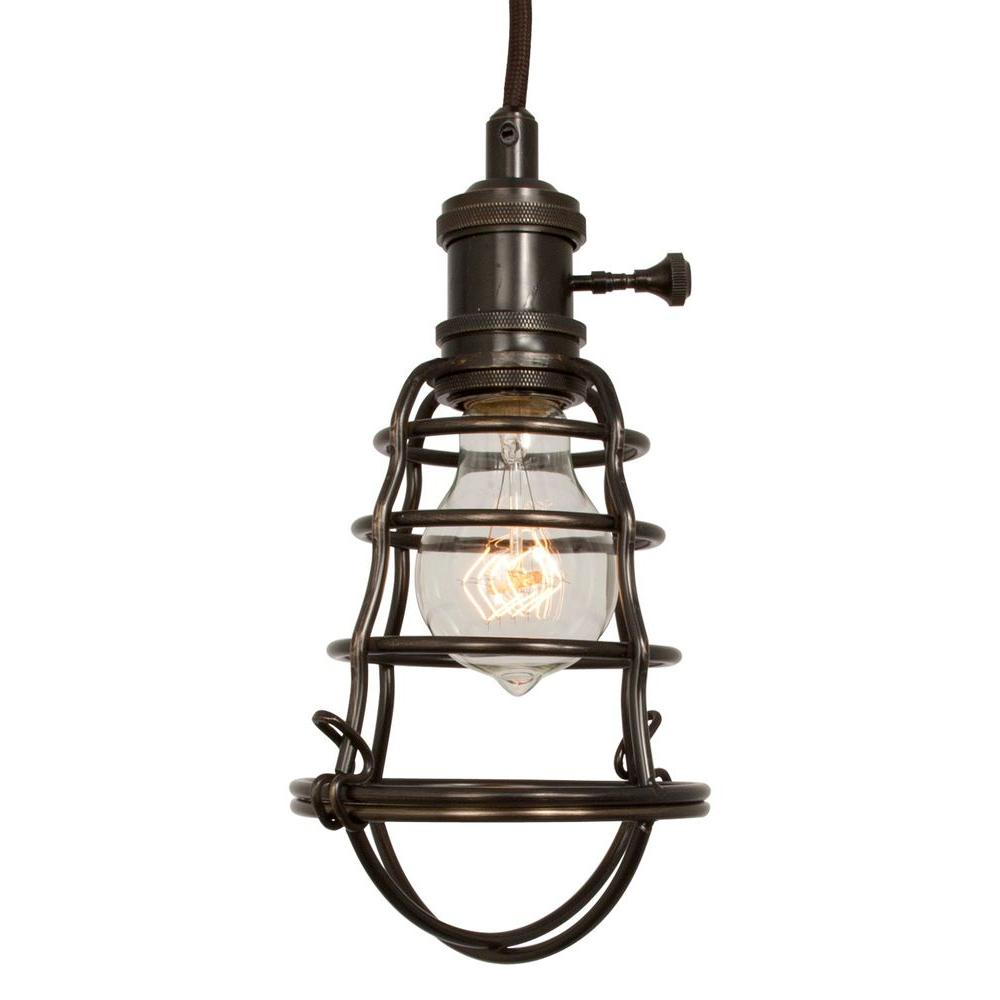 Eglo Verlichting Made Home Decorators Collection 1 Light Aged Bronze Cage Pendant