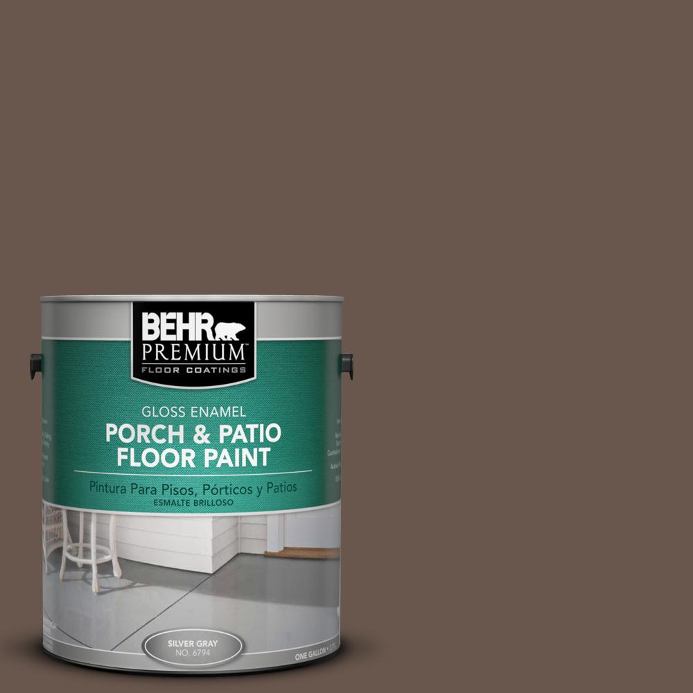 Floor Paint Home Depot Behr Premium 1 Gal Ppu5 02 Aging Barrel Gloss Interior Exterior Porch And Patio Floor Paint