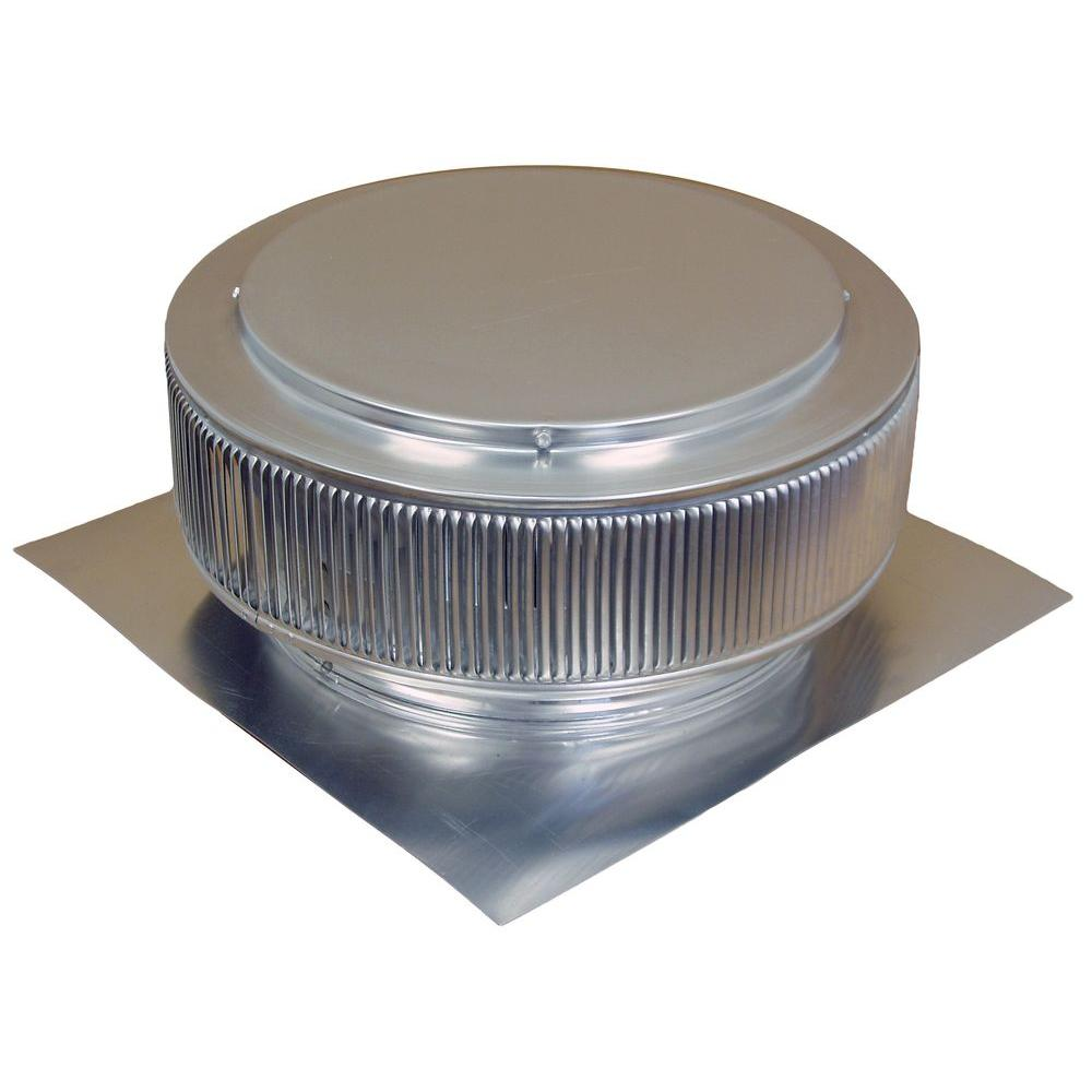 Exhaust Fan Roof Vent Active Ventilation 14 In Mill Finish Aluminum Roof Vent No Moving Parts Wind Turbine