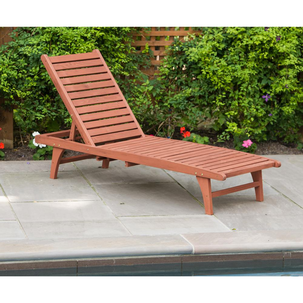 1000 Chaises Leisure Season Patio Lounge Chaise With Pull Out Tray