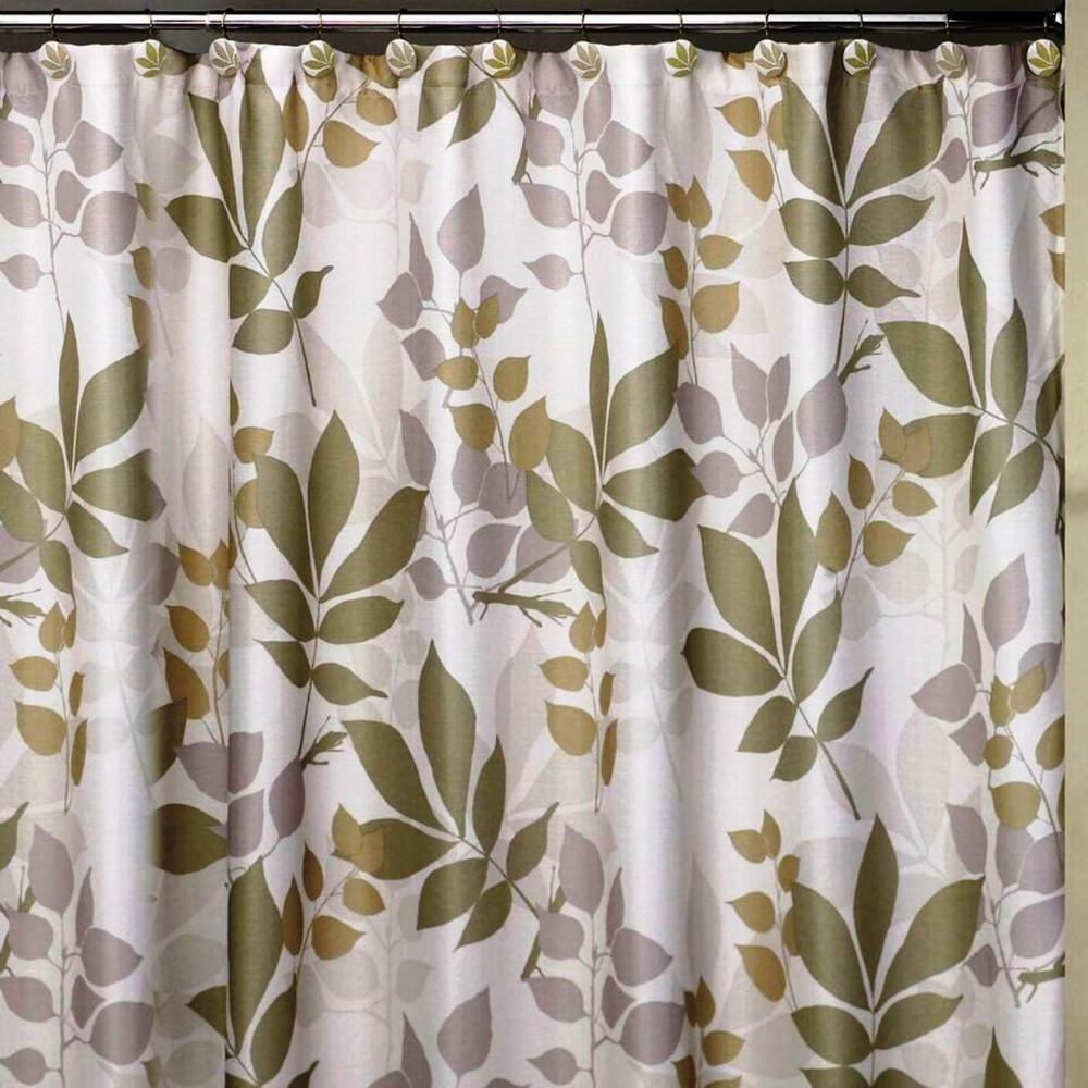 Lavender Shower Curtains Shadow Leaves 72 In X 72 In 100 Cotton Botanical Themed Shower Curtain