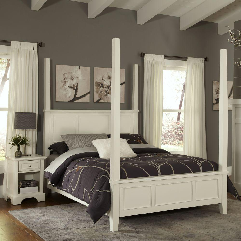 White Four Poster King Bed Naples White King Poster Bed