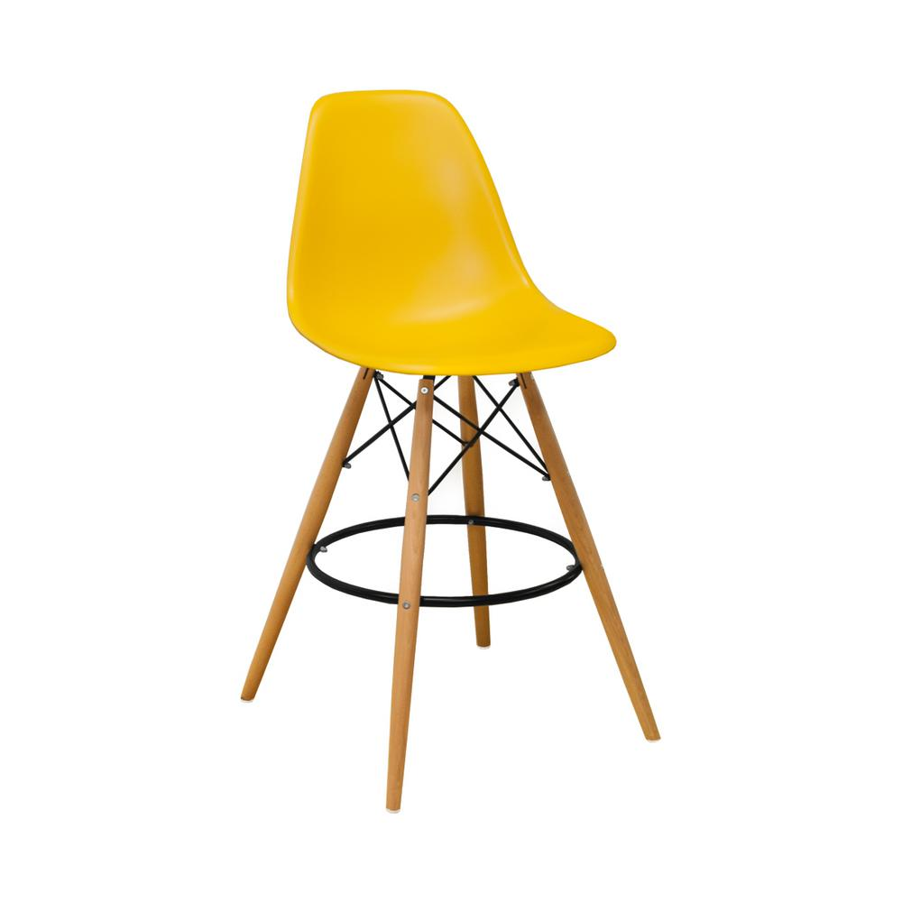 28 Barstools Mod Made Paris Tower Mid Century Modern 28 In Yellow Barstool Set Of 2