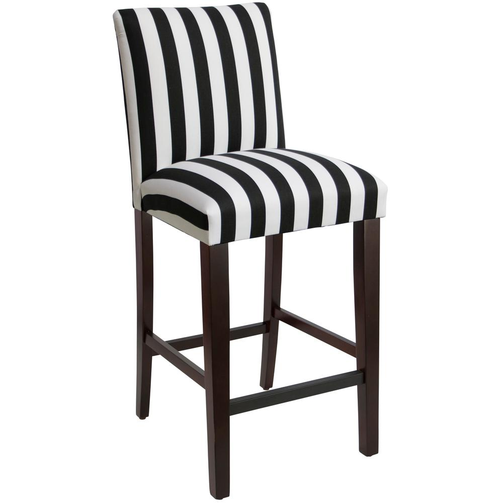 Bar Stool Chairs Canopy Stripe Black And White Uptown Bar Stool