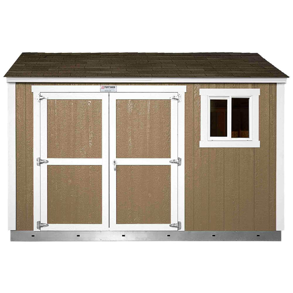 Home Depot Sheds For Sale Tuff Shed Installed Tahoe Tall Ranch 10 Ft X 12 Ft X 8 Ft 10 In Painted Storage Shed With Shingles And Sidewall Double Door