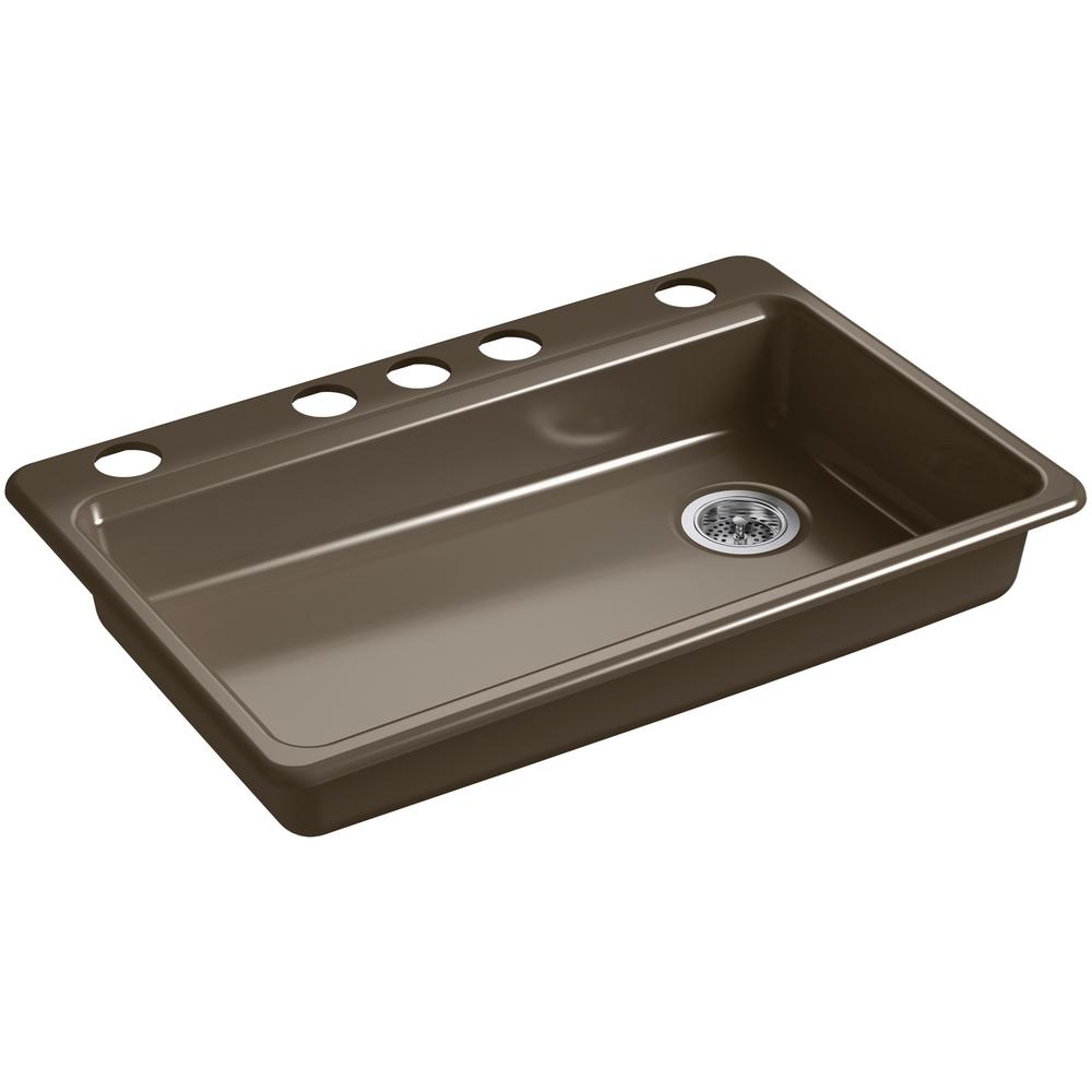 Kohler Riverby Undermount Cast Iron 33 In 5 Hole Single