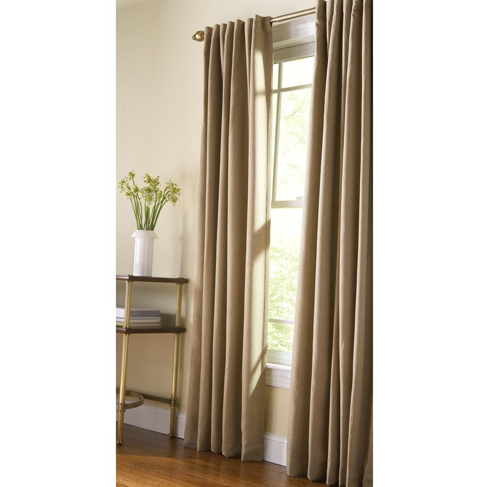 Curtain Insulation Fabric Martha Stewart Living Thermal Tweed Room Darkening Window Panel In Monks Cloth 50 In W X 84 In L