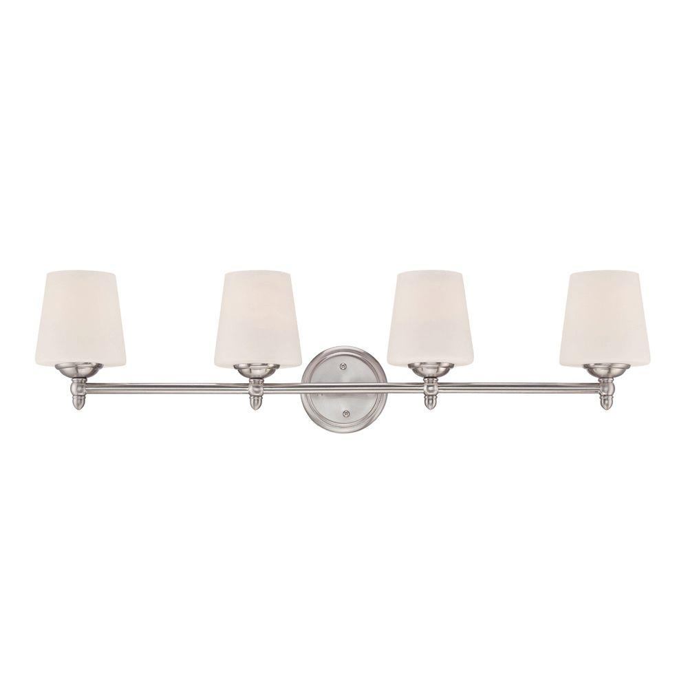 Designers Fountain Lighting Designers Fountain Darcy 4 Light Brushed Nickel Bath Bar Light