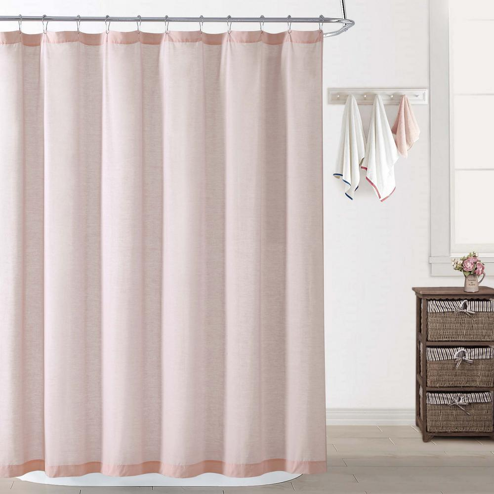 How To Make Shower Curtain Chambray Coast Blush Shower Curtain