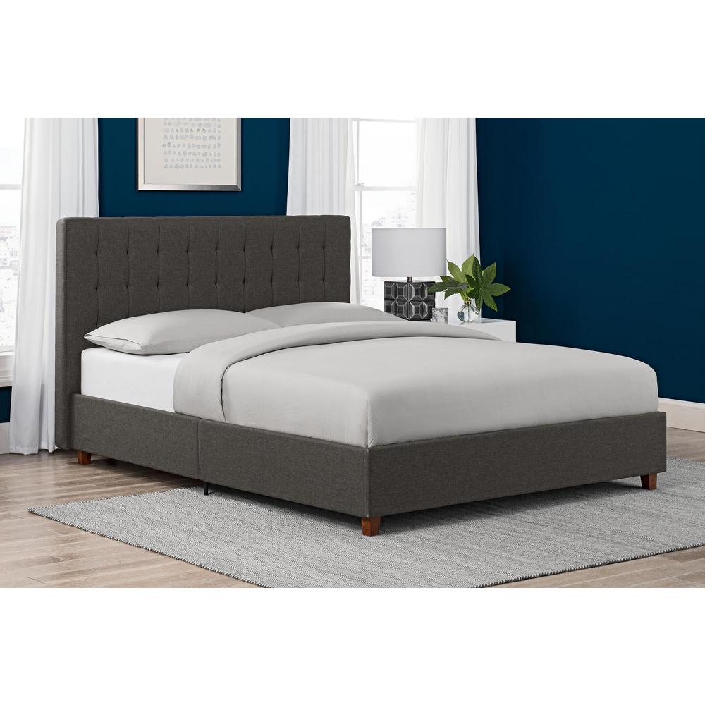 Size Of Queen Bed Dhp Eva Blue Upholstered Linen Queen Size Bed Frame De97600 The