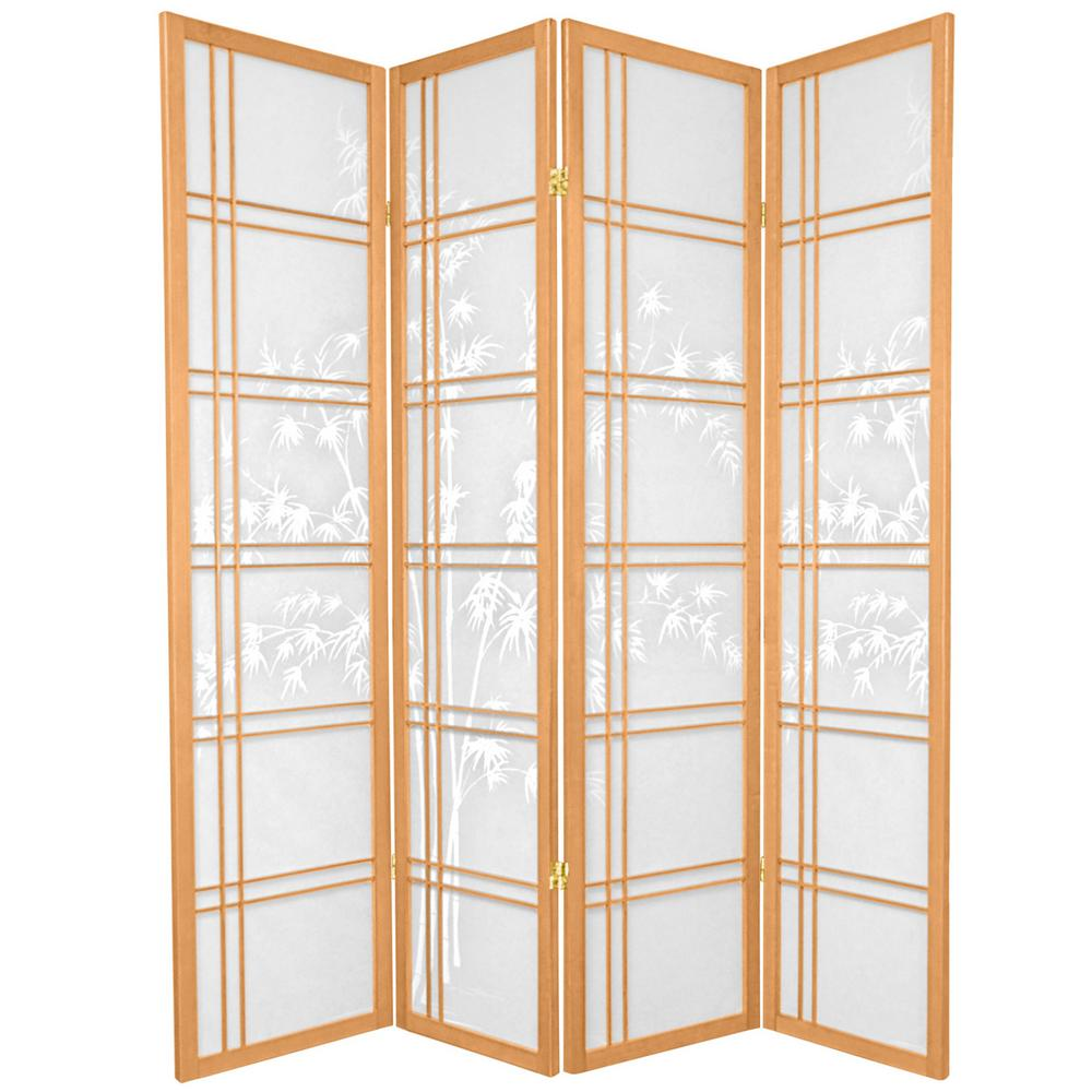Room Dividers Home Depot 5 83 Ft Natural 4 Panel Room Divider R5442 4 The Home Depot