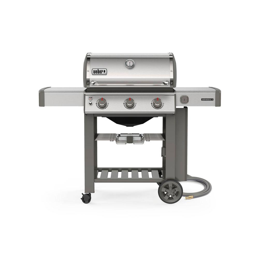 Gasgrill Seattle Weber Genesis Ii S 310 3 Burner Natural Gas Grill In Stainless Steel With Built In Thermometer