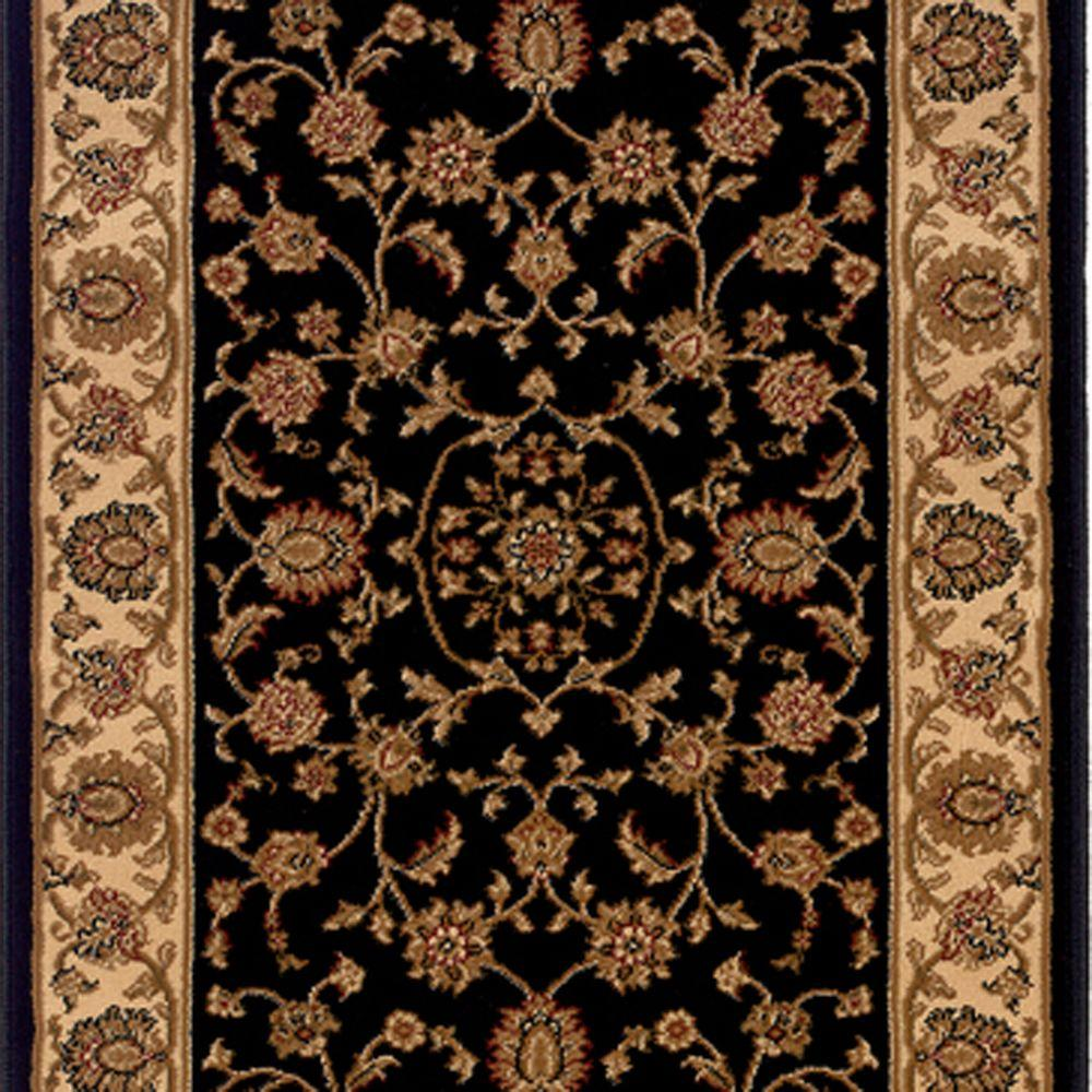 Stairs Rug Runners Natco Kurdamir Rockland Black 33 In X Your Choice Length Stair Runner