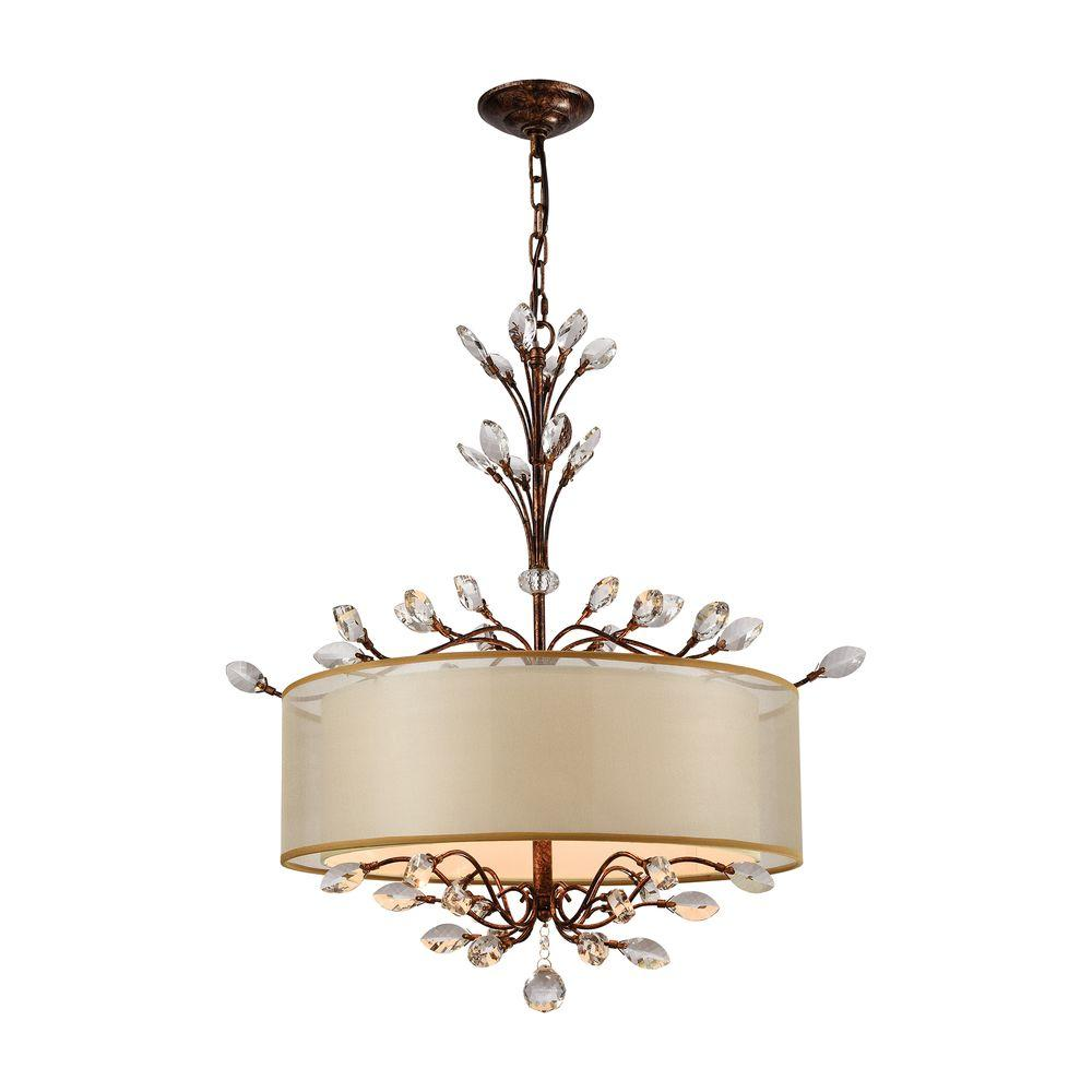 Spanish Chandelier Titan Lighting Asbury 4 Light Spanish Bronze Chandelier