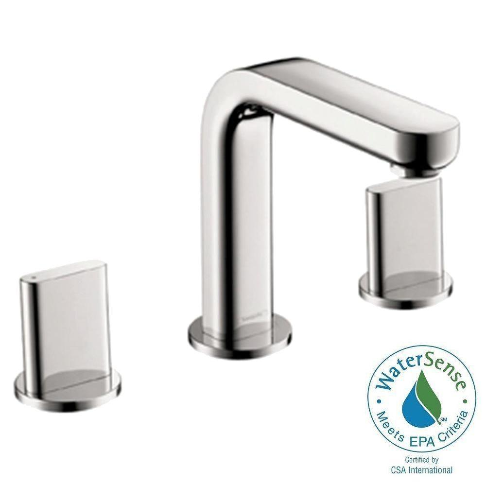 Hans Grohe Hansgrohe Metris S 8 In Widespread 2 Handle Mid Arc Bathroom Faucet In Chrome