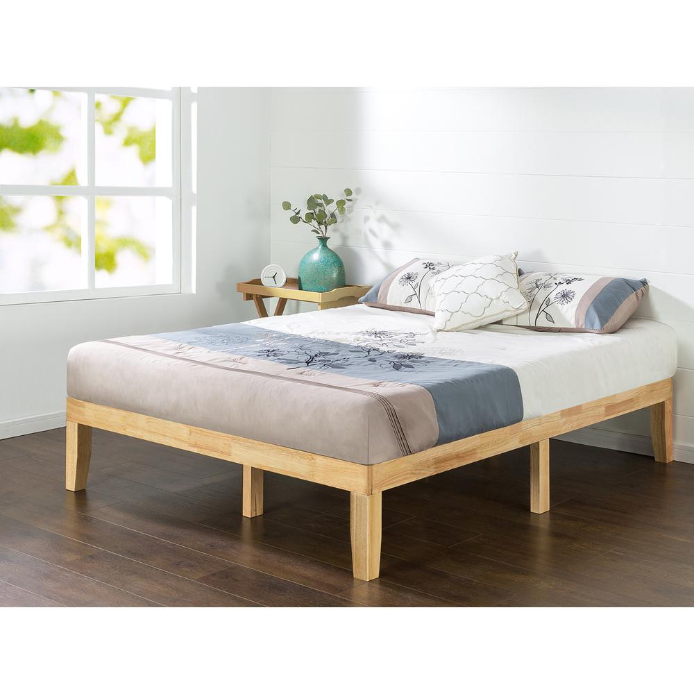 Cheap Wooden Bed Frames Zinus Moiz 14 In Wood Platform Bed Queen Hd Rwpb 14q The Home