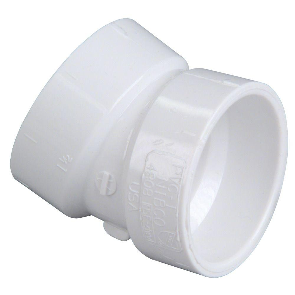 Pvc Joints 1 1 2 In Pvc 22 1 2 Degree Hub X Hub Elbow