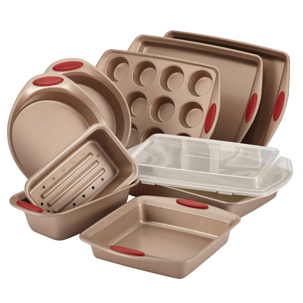 Cucina No Problem Rachael Ray Cucina 10 Piece Latte And Cranberry Bakeware Set 52410