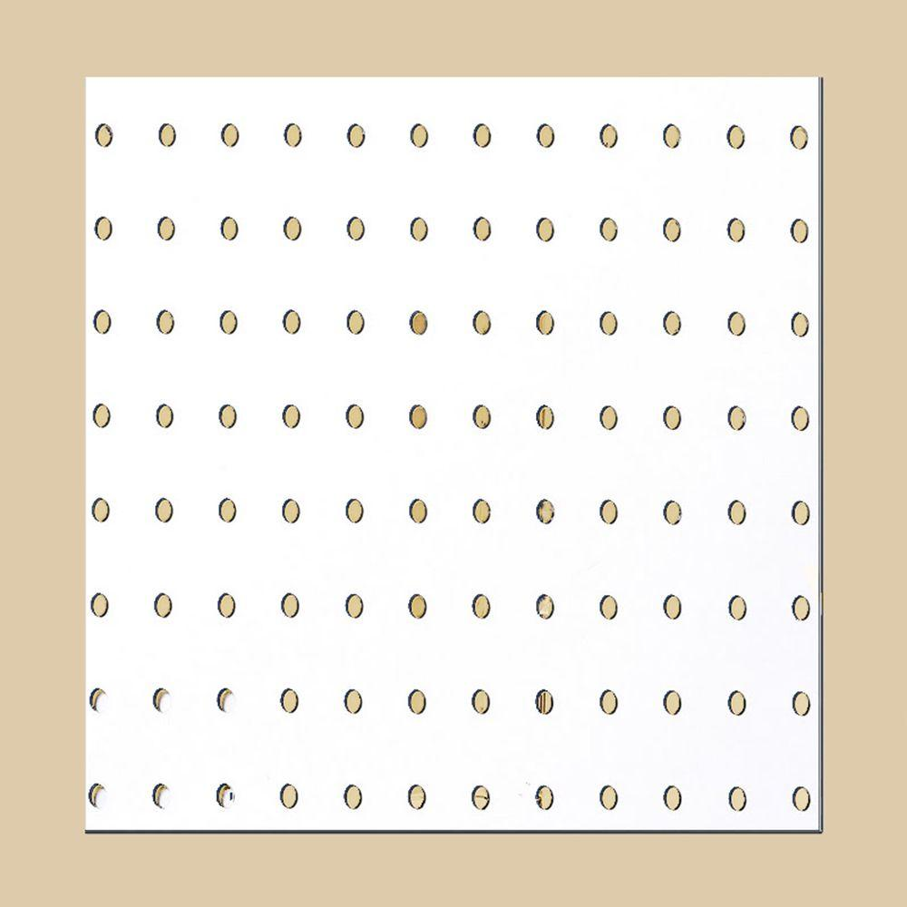 Peg Board Canada Pegboard White Panel Common 3 16 In X 4 Ft X 8 Ft Actual 155 In X 47 7 In X 95 7 In