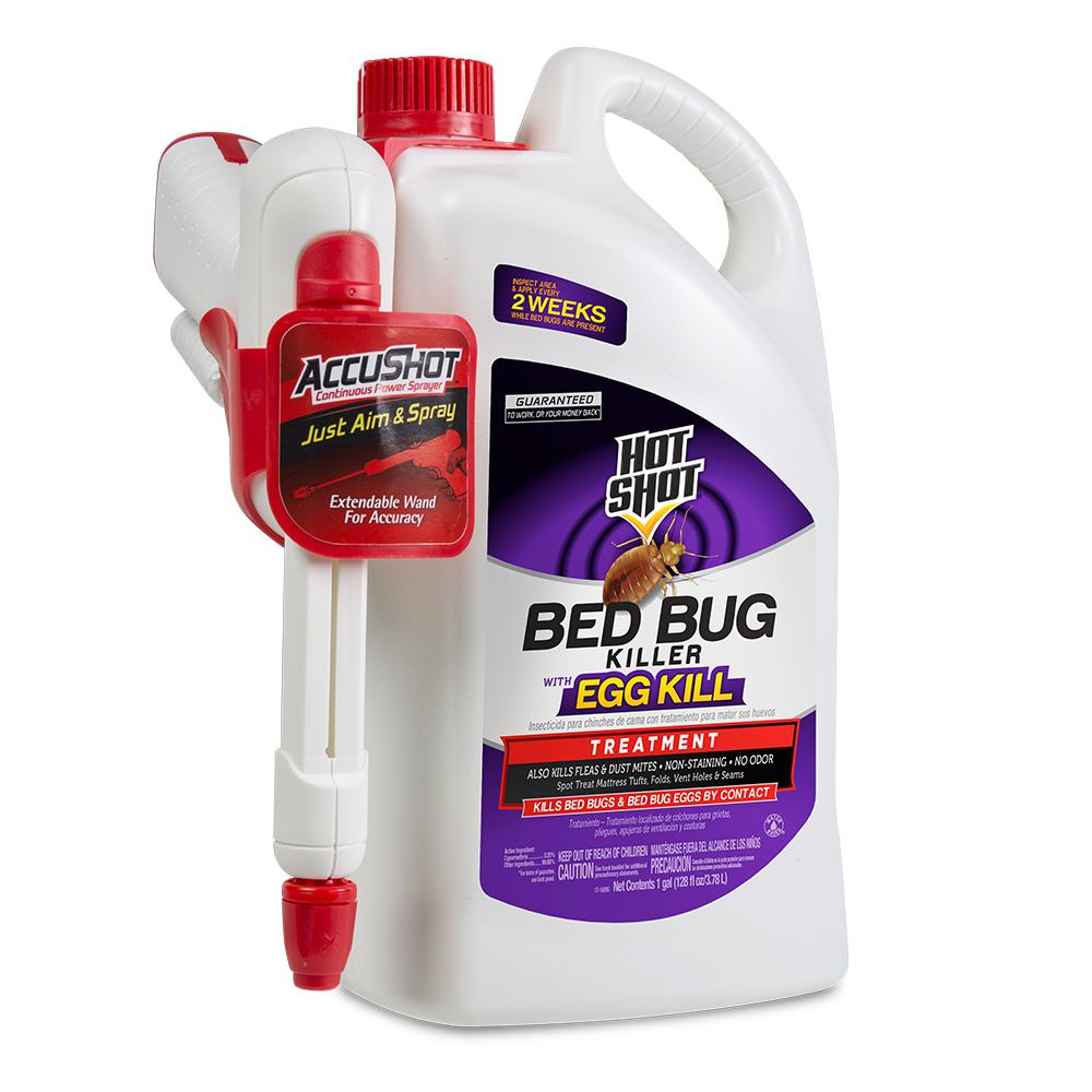 Sprays For Bed Bugs Hot Shot Bed Bug And Flea Killer 1 Gal Ready To Use Accushot Sprayer