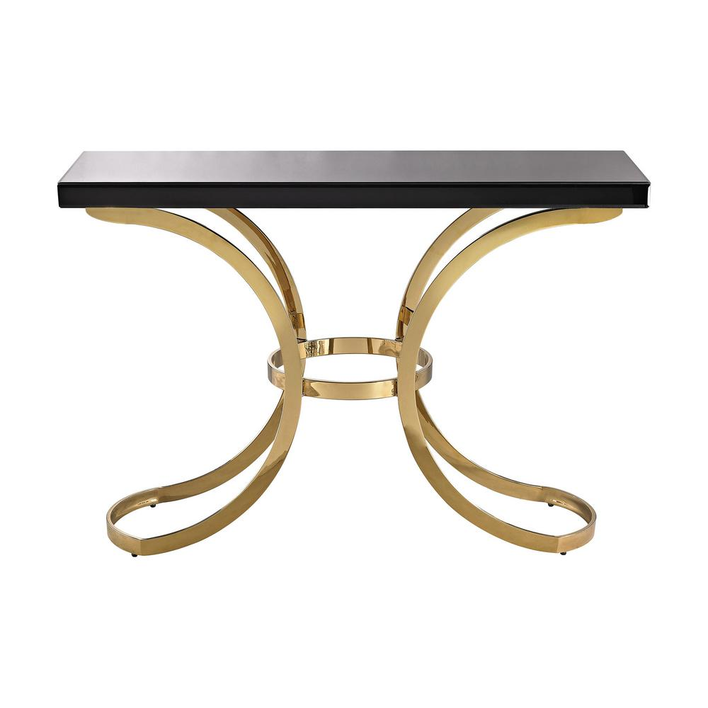 Glass Top Console Table Beacon Towers Black And Gold Glass Top Console Table