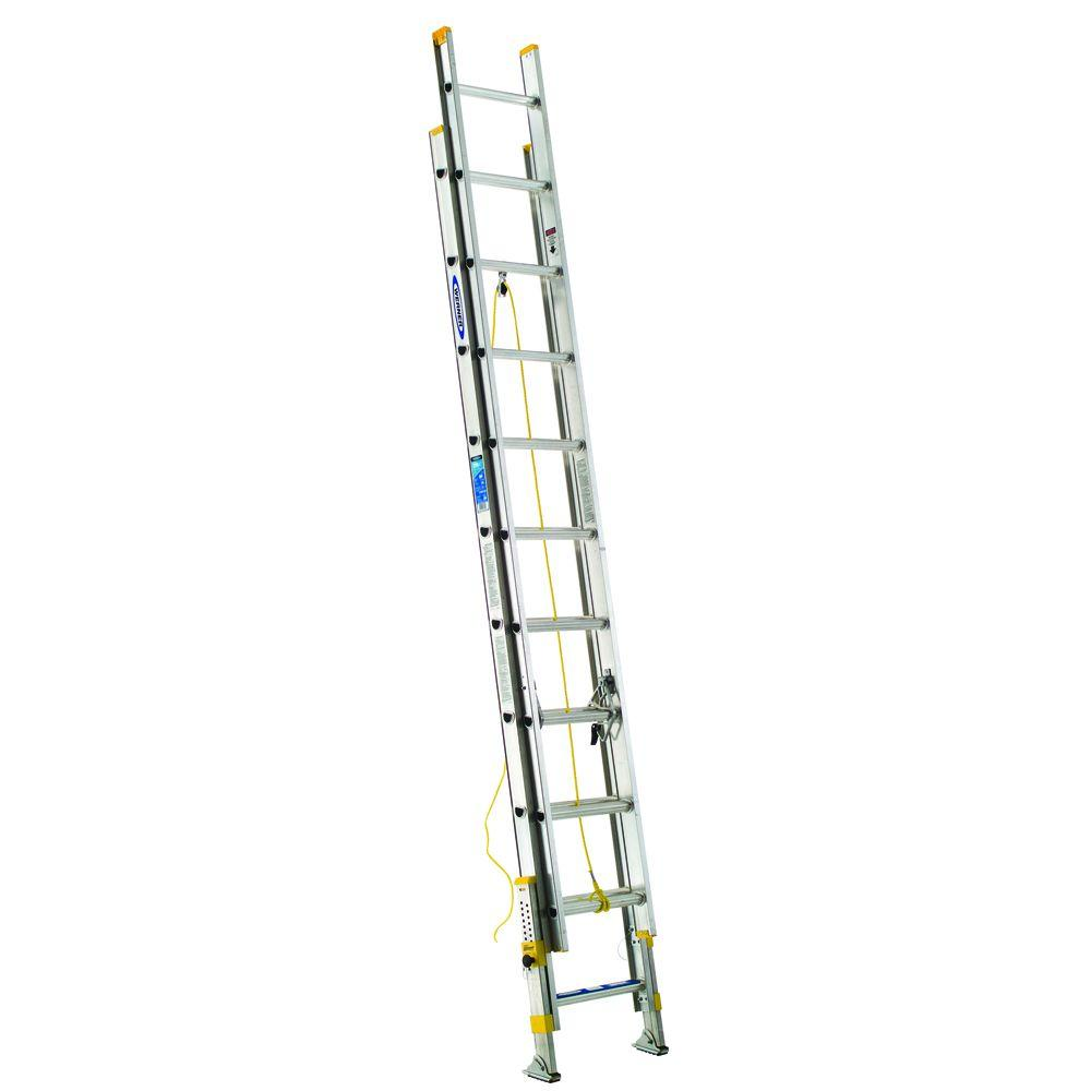 20' Ladder Home Depot Werner 20 Ft Aluminum D Rung Equalizer Extension Ladder With 250 Lb Load Capacity Type I Duty Rating