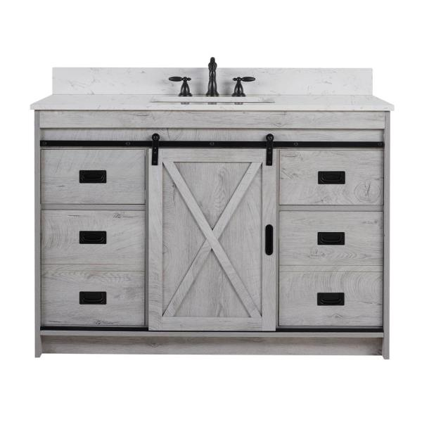 Unbranded Rafter 48 In W X 22 In D Bath Vanity In White