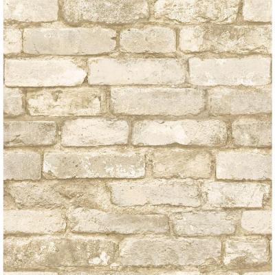 Chesapeake Oxford White Brick Texture Wallpaper-MAN20098 - The Home Depot